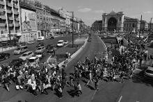 Exodus Napokig egyetlen vonat sem indulhatott Nyugat Európába. Menekültek ezrei rekedtek a Keleti tranzitzónájában ahol napról napra többen betegedtek meg a zsúfoltság és kosz miatt. Szeptember 3-án a menekülteket beengedték a pályaudvarra ahol felszállhattak egy vonatra amiről úgy tudták, Németországba megy. Ehelyett a rendőrség Bicskénél megállított a szerelvényt. Másnap 1500 kimerült, dühös és csalódott menekült indult útnak gyalog Ausztria felé az M1-esen. 30 km-t meneteltek, aztán lepihentek éjszakára. Ekkor derült ki, hogy a kormány buszokat küld amik elviszik őket az osztrák határhoz.