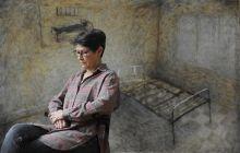 Vojnich Erzsébet Vojnich Erzsébet festőművész ül egy alkotása előtt budapesti műtermében.
