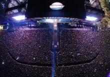 Mosolygó nagyszínpad A Sziget fesztivál nagyszínpada mosolyog a tömegre