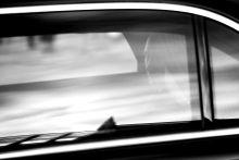 Putyin Vladimir Putin az elnöki limuzinban utazik Budapesten február 17-én.