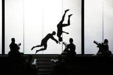 A Walkür Richard Wagner egyik háromfelvonásos operáját, A Nibelung gyűrűje tetralógia második részét, A walkürt próbálják a Művészetek Palotájában.   Budapest, 2015. június 4.