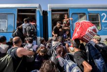 Menekültroham a pélimonostori (CRO) vasútállomáson Szeptemberben a röszkei határ lezárása után a menekülthullám Horvátország felé fordult, és napokon belül káoszt okozott az országban. Az egyik ilyen pont Pélmonostor vasútállomása volt.