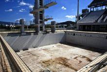 Elmúlás 2014.07.04. Athén, Görögország  Szomorú látványt nyújt a 2004-es athéni olimpia sportlétesítményeinek nagy része. A kihasználatlanul álló építmények lassan mind elenyésznek.