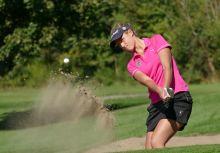 Homok ütés European Ladies' Club trophy 2015. Tata. OLd Lake Golf Club. Magyarország