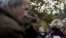 Búcsú 93 éves korában elhunyt Göncz Árpád volt köztársasági elnök.A képen: Orbán Viktor miniszterelnök, aki  magánemberként vett részt a búcsúztatásán. 2015.11.06.