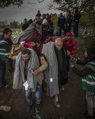Zöldhatár Önkéntesek segítik a magyar-horvát zöldhatáron átkelő menekülteket Zákány közelében, szeptember 27-én. 2015-ben több mint egymillióan lépték át az Európai Unió határait.