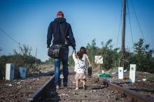 Menekültek Menekültek a Magyar Szerb határon.