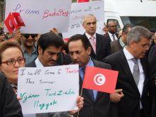 Terrorellenes tüntetés Budapesten A tuniszi Bardo múzeumnál történt terrorakció után felvonuláson álltak ki a békéért , a terror ellen az itt élő tunéziaiak és szimpatizánsaik.Az eseményen részt vett több arab ország és Irán nagykövete is.