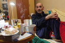 Paudits Béla Paudits Béla színművész interjút ad budapesti otthonában 2015 január 29-én.