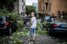 Vihar után Hatalmas vihar pusztított országszerte 2015. július 8-án milliárdos károkat okozva. Egy fiú döbbenten áll a budapesti Ág utcában a ledőlt fák és összetört autók között.