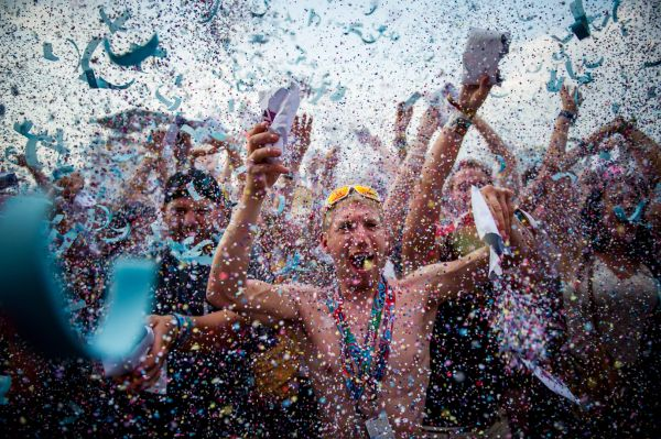 Confetti party a Szigeten
