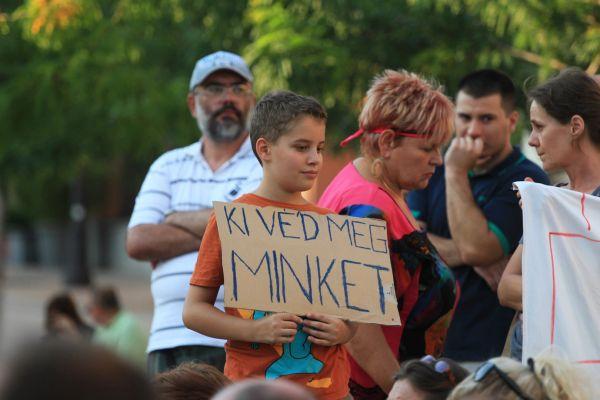 Egy tüntetés ahol mindenki összefog